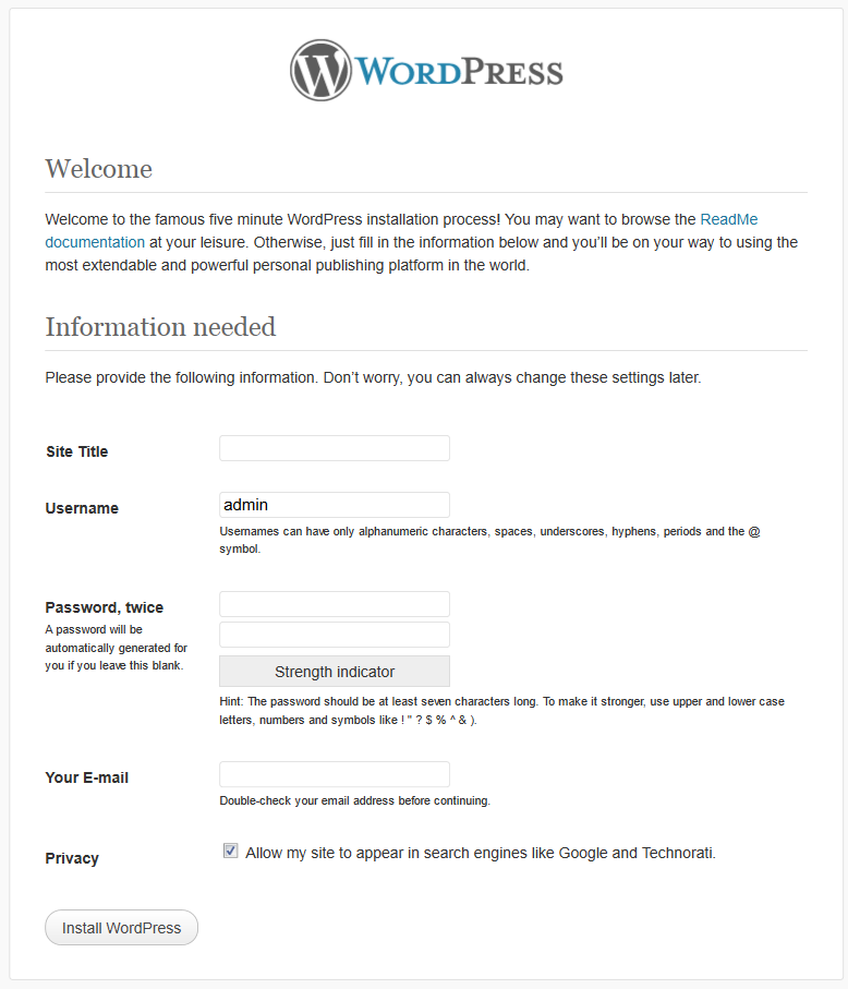 Installing Wordpress Via Terminal And Securing The Server